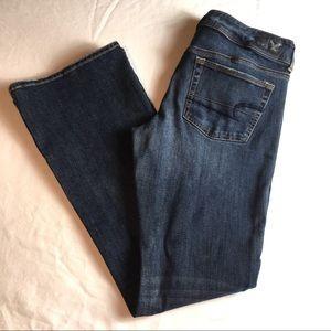 AE Womens Jeans Stretch Kick Boot Cut Blue Size 12